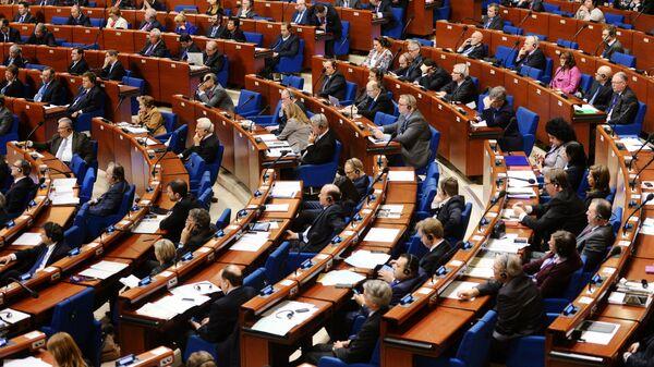 Делегаты в зале на пленарном заседании Парламентской ассамблеи Совета Европы (ПАСЕ) - Sputnik Латвия