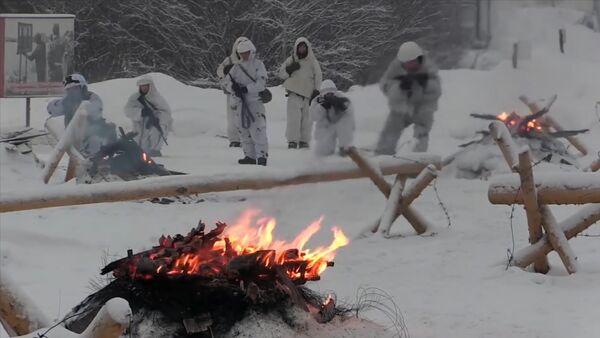 Ziemeļu flotes jūras kājnieki organizējuši mācības ekstremālos apstākļos - Sputnik Latvija