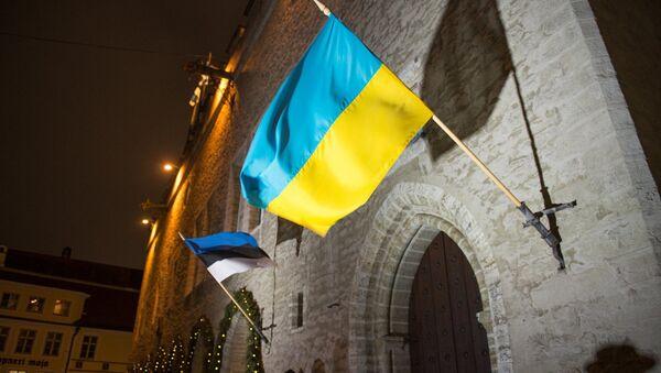 Igaunijas un Ukrainas karogi - Sputnik Latvija