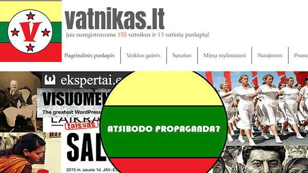 Скриншот интернет-ресурса Литвы Vatnikas, архивное фото - Sputnik Latvija
