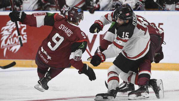 Хоккейный матч Латвия - Канада, 4 февраля 2018 - Sputnik Латвия