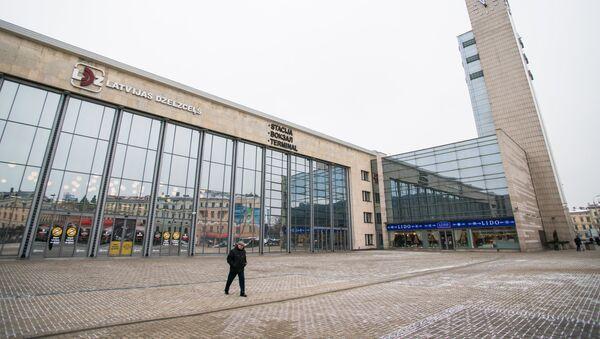 Dzelzceļa stacija Rīgā - Sputnik Latvija