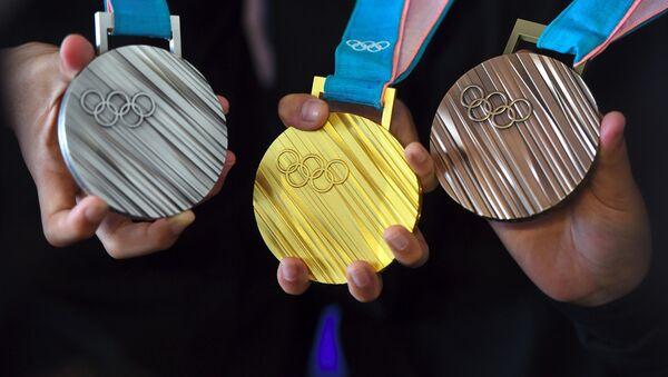 Медали Олимпиады в Пхенчхане 2018 года - Sputnik Латвия
