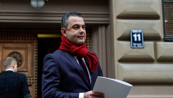 Руководитель фракции Единство в Сейме Хосам Абу Мери - Sputnik Latvija