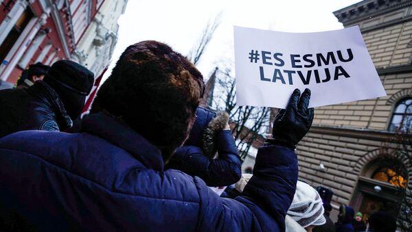 Pikets krievu mācību valodas atbalstam Latvijā - Sputnik Latvija