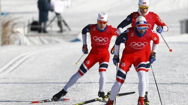 Norvēģijas olimpiskās izlases treniņi Phjončhanā - Sputnik Latvija