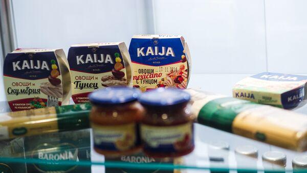 Консервированные овощи с тунцом торговой марки KAIJA, дистрибьютор в России - ООО Балтис - Sputnik Латвия