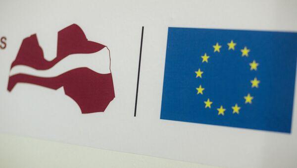 Логотипы Латвии и ЕС - Sputnik Латвия