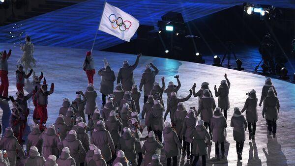 Церемония открытия XXIII зимних Олимпийских игр - Sputnik Latvija