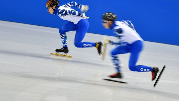 Олимпиада 2018. Шорт-трек. Тренировки - Sputnik Латвия