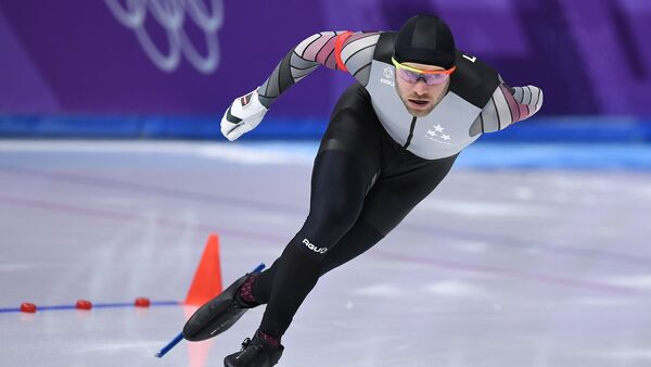 Конькобежец Харальдс Силовс на XXIII зимних Олимпийских играх в Пхенчхане - Sputnik Латвия