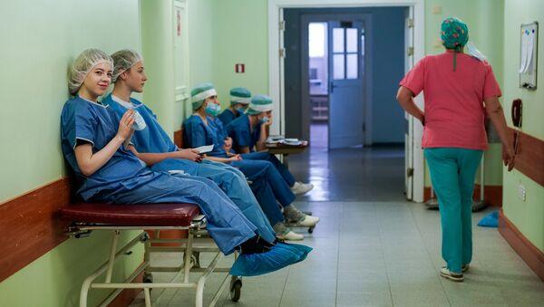 Операционный блок в больнице им. Паула Страдыня - Sputnik Латвия