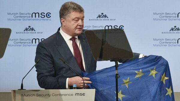 Президент Украины Петр Порошенко выступает на Мюнхенской конференции по безопасности - Sputnik Латвия