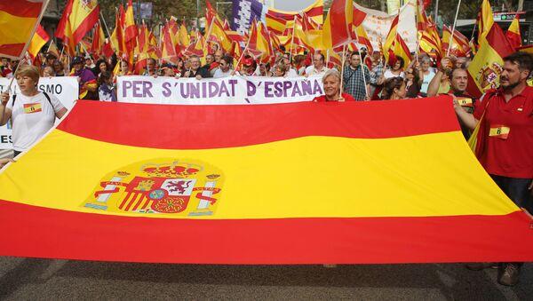 Празднование Дня Испании в Барселоне - Sputnik Латвия
