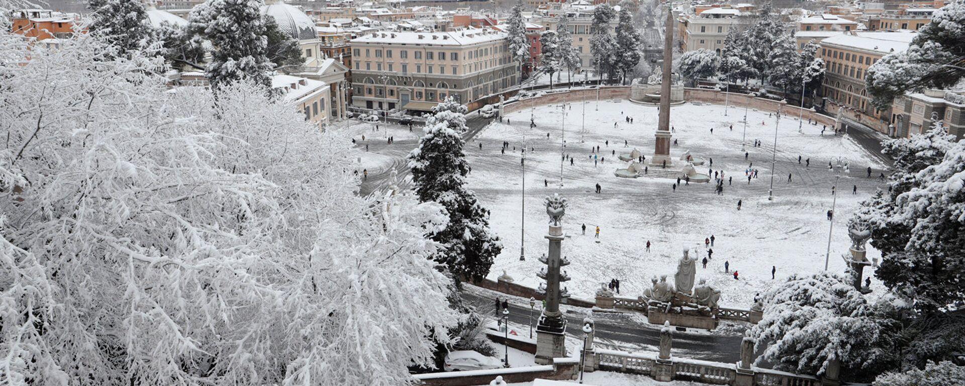 Пьяцца дель Пополо в Риме, 26 февраля 2018 - Sputnik Латвия, 1920, 26.02.2018