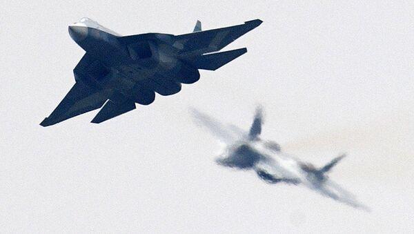 Российский многофункциональный истребитель пятого поколения Т-50 (ПАК ФА или Су-57) - Sputnik Латвия