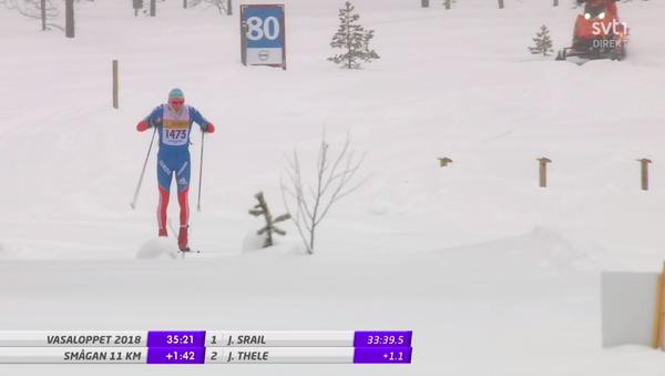 Призер Олимпийских игр 2010 года немецкий лыжник Тим Чарнке вышел на старт 90-километровой гонки Васалоппет, которая проходила в Швеции, в форме сборной России - Sputnik Latvija
