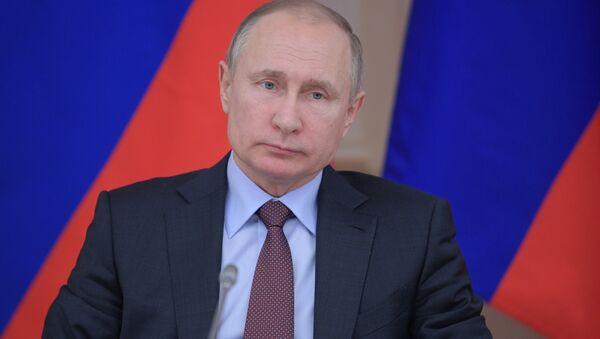 Президент РФ Владимир Путин, 6 марта 2018 - Sputnik Латвия
