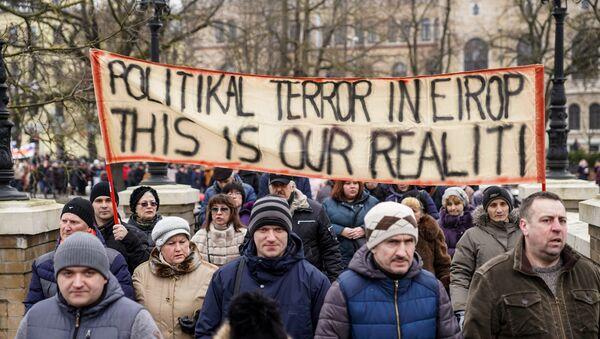 Марш в защиту русских школ. 10 марта 2018 г. - Sputnik Латвия