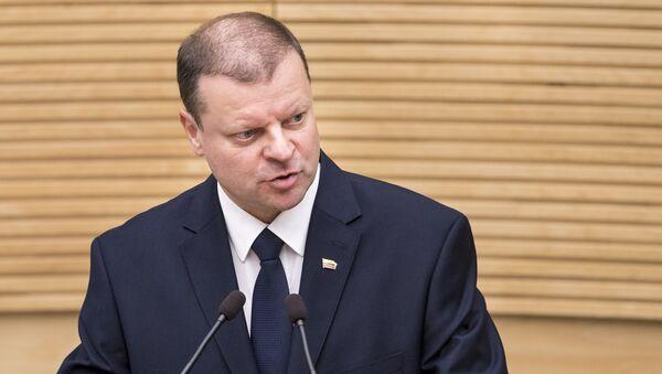 Премьер-министр Литвы Саулюс Сквернялис, архивное фото - Sputnik Латвия
