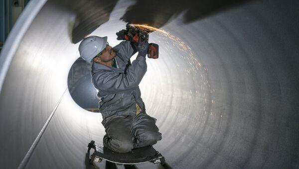Трубы для строительства газопровода Северный поток-2 - Sputnik Латвия