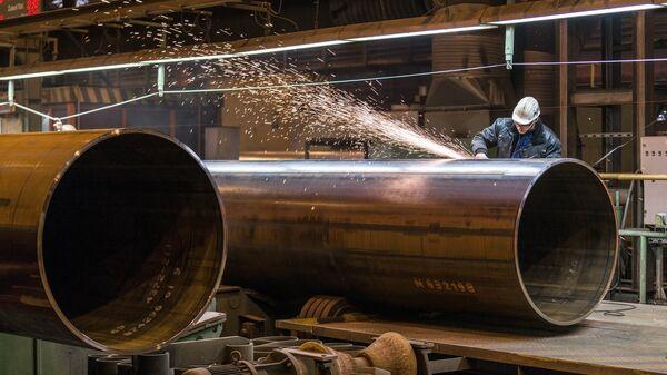 Трубы для строительства газопровода Северный поток-2 - Sputnik Latvija