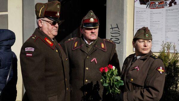 Подготовка к маршу легионеров СС в Риге - Sputnik Латвия