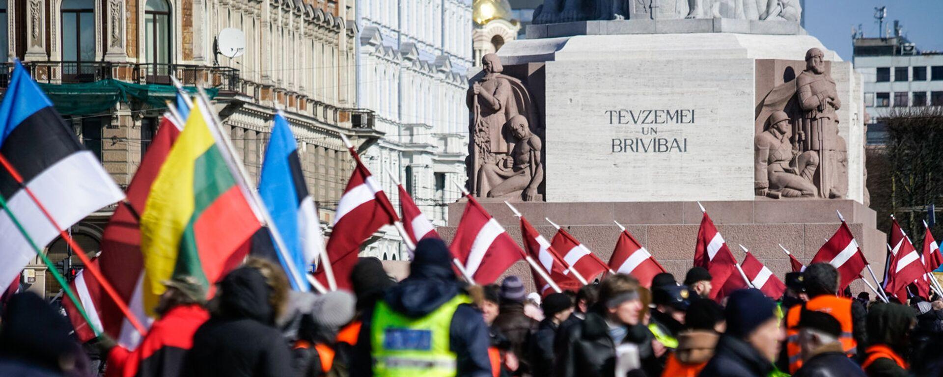 Марш легионеров СС в Риге - Sputnik Латвия, 1920, 12.03.2021