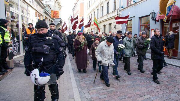 Марш легионеров СС в Риге - Sputnik Latvija