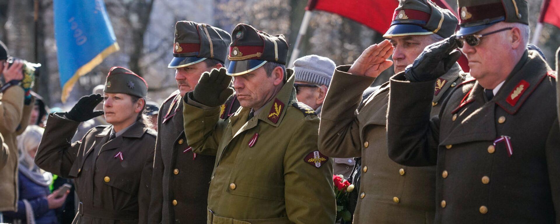Марш легионеров СС в Риге - Sputnik Латвия, 1920, 18.03.2021