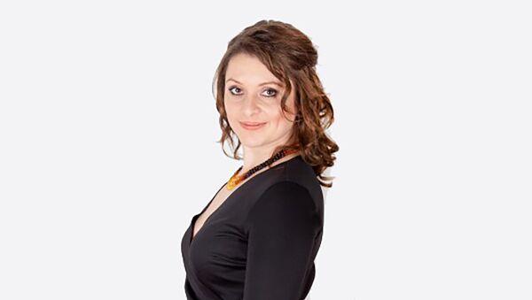 Анна Манахова  пресс-секретарь Калиниградского янтарного комбината - Sputnik Латвия