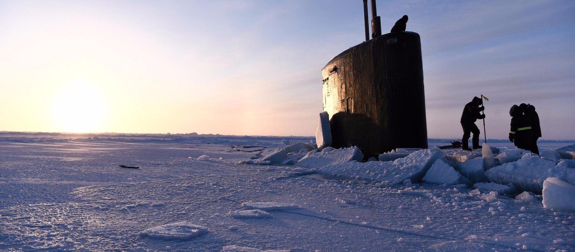 Подводная лодка ВМС США во время учений Арктике ICEX-2018 - Sputnik Latvija, 1920, 25.10.2020