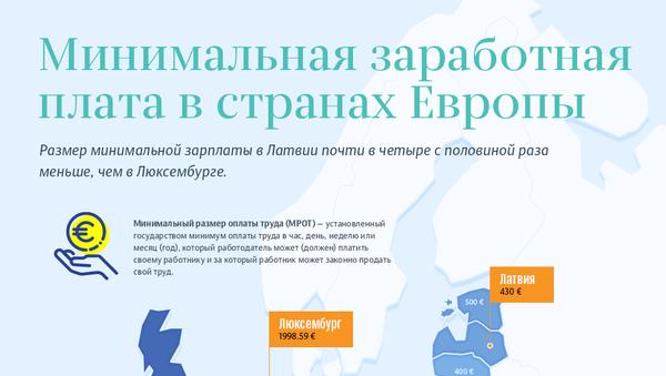 Минимальная заработная плата в странах ЕС - Sputnik Латвия