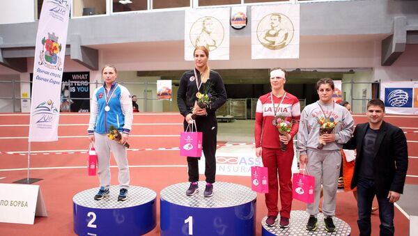 Латвийка Лаура Скуиня завоевала бронзу на турнире Dan Kolov - Nikola Petrov в Софии - Sputnik Латвия