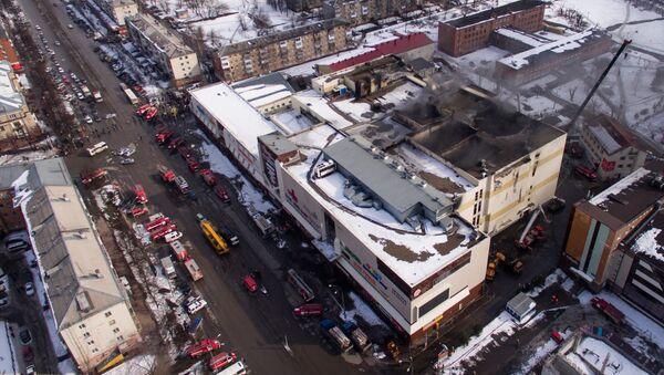 Последствия пожара в ТЦ Зимняя вишня - Sputnik Латвия