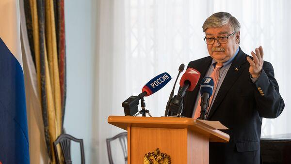 Krievijas vēstnieka Latvijā Jevgēņija Lukjanova preses konference - Sputnik Latvija