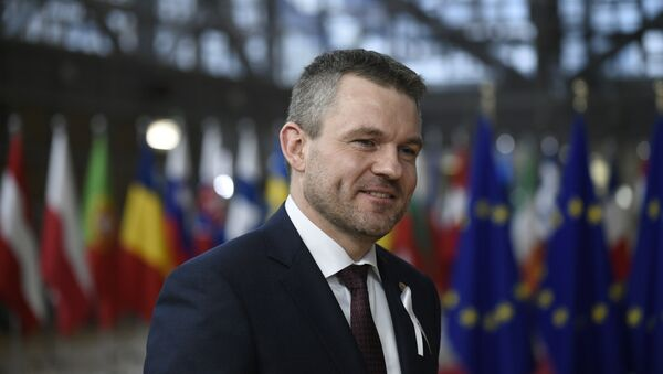 Slovākijas premjerministrs Pēters Pelegrīni - Sputnik Latvija