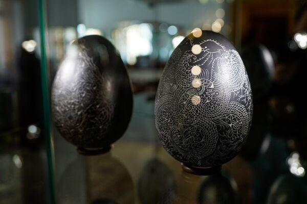 Выставка пасхальных яиц в Музее югендстиля - Sputnik Латвия