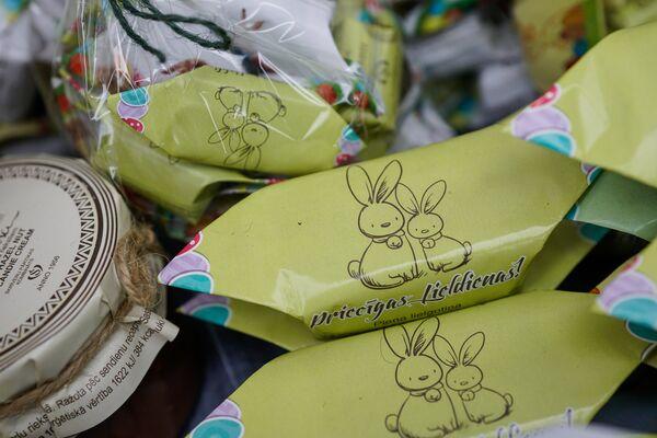 Пасхальные конфеты Коровка из Скривери - Sputnik Латвия