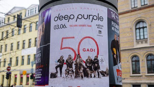 Плакат группы Deep Purple в Риге - Sputnik Латвия