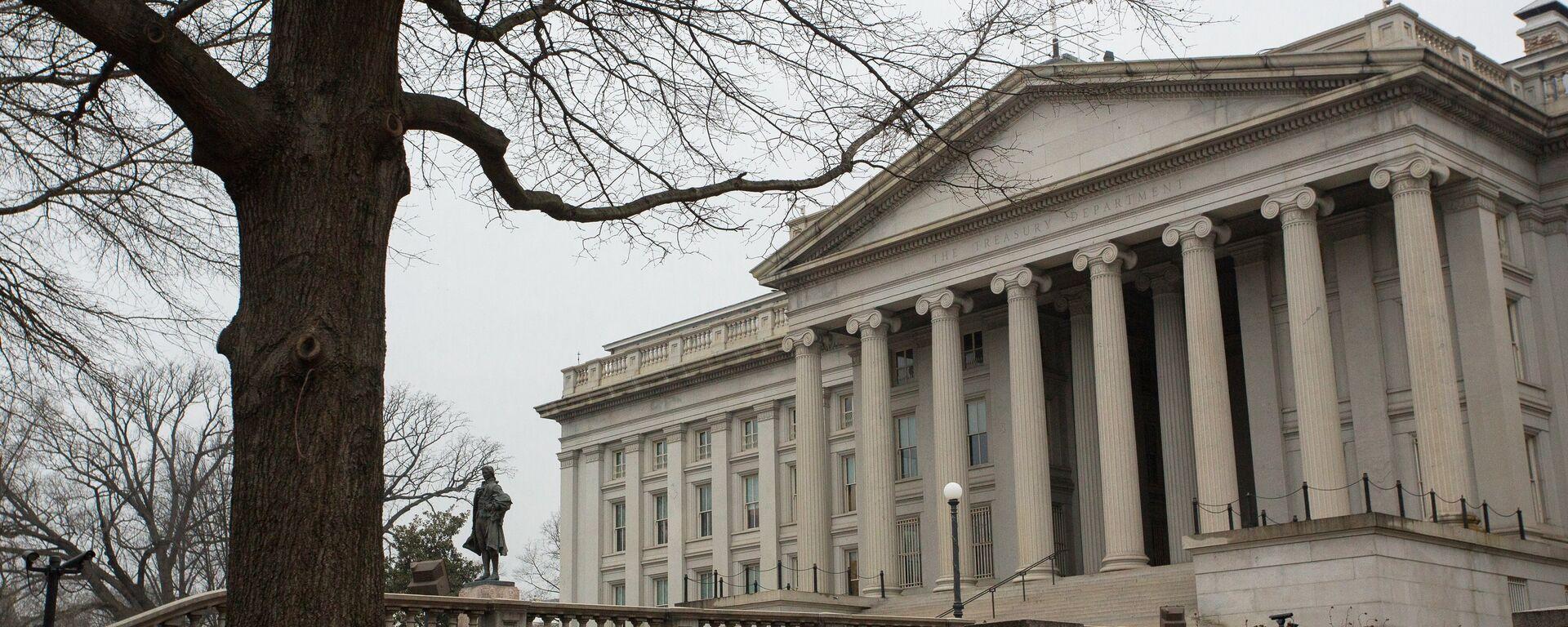 Министерство финансов США в Вашингтоне. - Sputnik Latvija, 1920, 24.09.2021