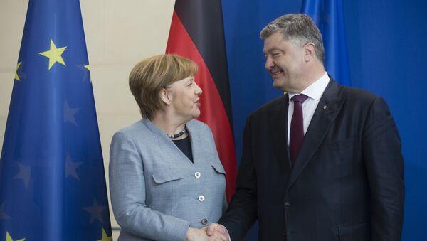 Визит президента Украины П. Порошенко в Германию - Sputnik Латвия