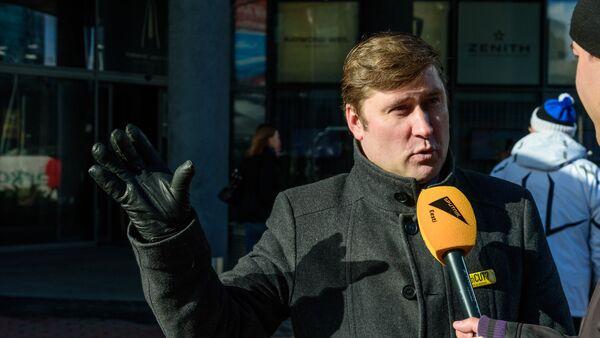 Председатель Профсоюза железнодорожников Эстонии Олег Чубаров  - Sputnik Latvija