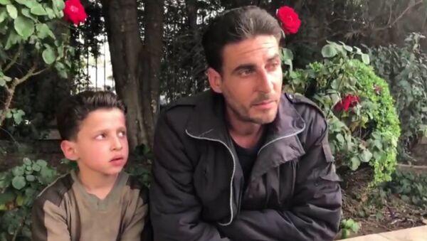 Zēns no Dumas pastāstīja par ķīmiskā uzbrukuma video ierakstu - Sputnik Latvija