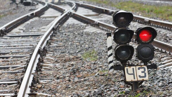 Железнодорожный светофор - Sputnik Latvija