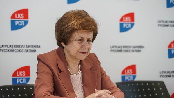 Татьяна Жданок на съезде партии Русский союз Латвии - Sputnik Латвия
