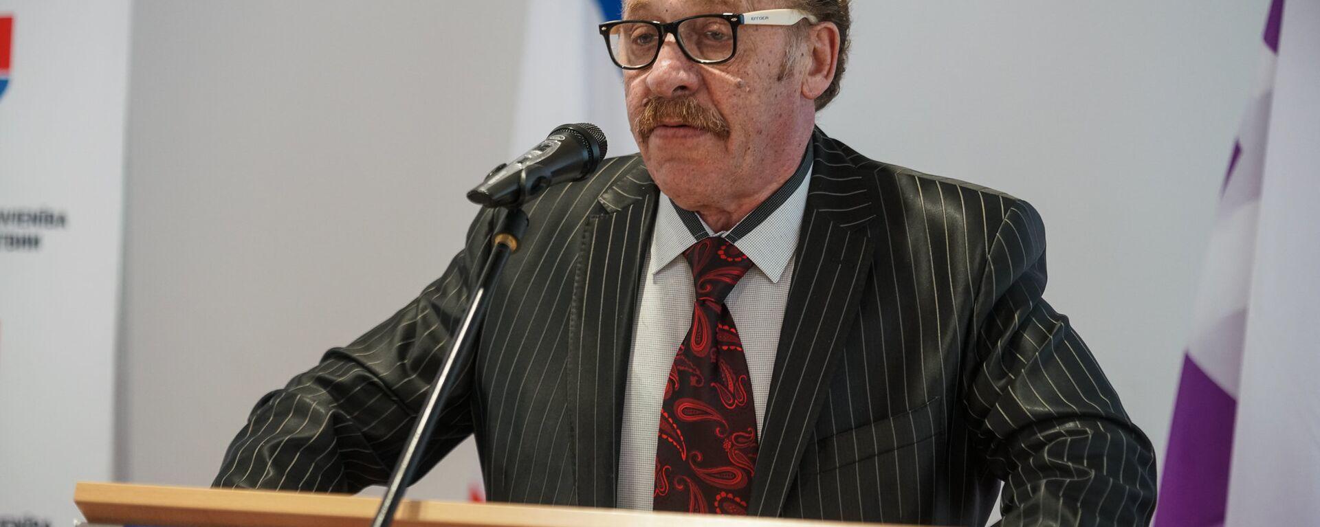 Яков Плинер на съезде партии Русский союз Латвии - Sputnik Латвия, 1920, 13.01.2021