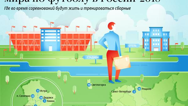 Базы команд-участниц чемпионата мира по футболу в России - Sputnik Латвия