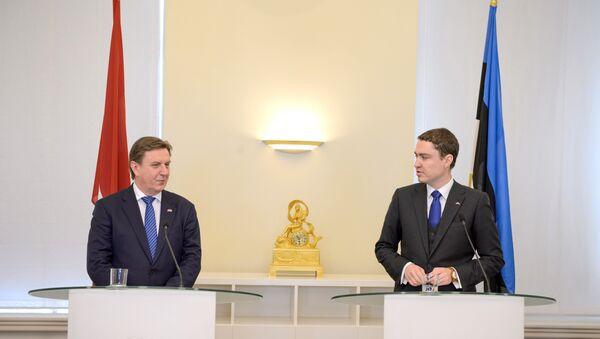 Официальная встреча премьер-министров Мариса Кучинскиса и Таави Рыйваса - Sputnik Латвия