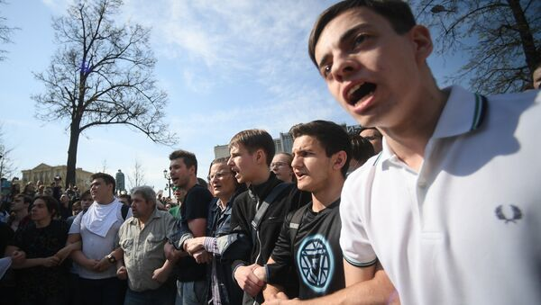 Акция оппозиции в Москве  - Sputnik Latvija